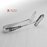 No 10 Asparagus Tongs Sterling Silver Dominick and Haff  1896