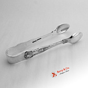 Sugar Tongs Sterling Silver Kings Pattern 1941