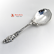 Les Six Fleurs Salad Serving Spoon Reed and Barton Sterling Silver 1901