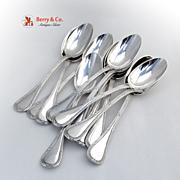 Bougainville Set of 12 Dessert Spoons Sterling Silver Puiforcat