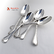 Bougainville Set of 6 Table Spoons Sterling Silver Puiforcat