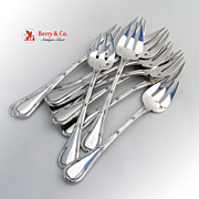 Bougainville Set of 12 Cocktail Forks Sterling Silver Puiforcat