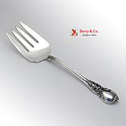 American Victorian Vegetable Serving Fork Sterling Silver Lunt 1941