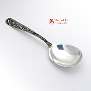 Repousse Large Berry Spoon Sterling Silver Kirk
