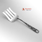 Repousse Asparagus Serving Fork Sterling Silver Kirk