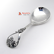 Serving Spoon Grape Decorations Sterling Silver Frank Whiting