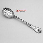 Honeysuckle Sugar Shell Spoon Joseph Seymour 1850 Coin Silver Frank