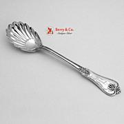 Honeysuckle Sugar Shell Spoon Joseph Seymour 1850 Coin Silver Frank