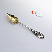 Pierced Floral Scroll Citrus Spoon Frank Smith Sterling Silver