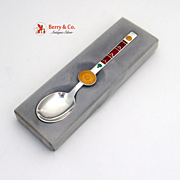 Zodiac Spoon of the Month Sterling Silver Michelsen October