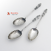 Apostle Demitasse Spoons 3 English Sterling Silver 1895