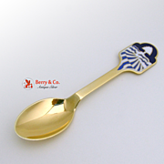 Christmas Spoon 1986 Michelsen Gilt Enamel Sterling Silver