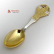 Christmas Spoon 1924 Michelsen Gilt Sterling Silver