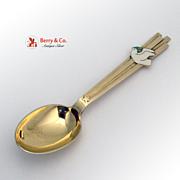 Christmas Spoon 1943 Michelsen Gilt Enamel Sterling Silver