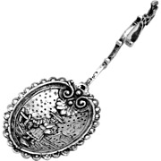 Monkey Spoon German 800 Silver Eagle Finial Figural Bowl 1880