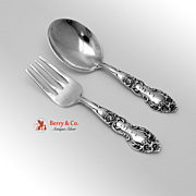 Baby Fork and Spoon Meadow Rose 1907 Sterling Silver Jeff