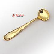 Virginia Gilt Master Salt Spoon Sterling Silver Gorham 1890