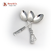 Fontainebleau Set of 3 Teaspoons Sterling Silver Gorham 1880