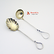 Aesthetic Twist Mustard Ladle Sugar Spoon Sterling Silver