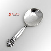 Acorn Tea Caddy Spoon Sterling Silver G. Jensen Denmark