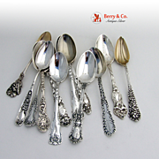 Miscellaneous Souvenir Spoons Sterling Silver  12 Pieces
