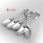 No. 43 5 Teaspoons Sterling Silver Towle 1882