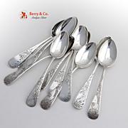 Miscellaneous Antique Tea Spoons Sterling Silver 12 Pieces