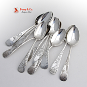 Miscellaneous Antique Tea Spoons Sterling Silver 12 Pieces