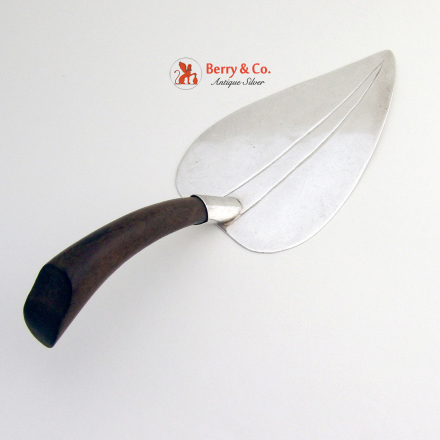 mexican leaf pie server sterling silver - Pie Server