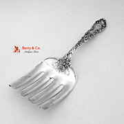 Imperial Chrysanthemum Asparagus Fork Gorham Sterling Silver 1894