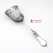 Ornate Berry Shovel Sterling Silver London 1910