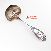 Floral Gravy Ladle Sterling Silver Gilt Schulz and Fischer 1890 San Francisco