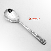 Hand Made Preserve Spoon Bamboo Chinese Export Silver 1900