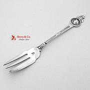 Medallion Pickle Fork Pierced Gorham Sterling Silver 1864