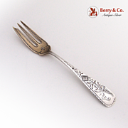 Engraved Wheat Pastry Server E.A.Fischer Sterling Silver