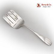 Lotus Asparagus Serving Fork P. Blanchard 1930 Sterling Silver