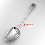 Georgian Stuffing Spoon R.Turner London 1807 Sterling Silver