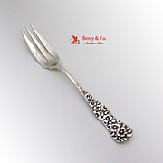 Rococo Pastry Fork 1888 Dominick and Haff Sterling Silver