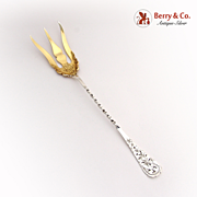 Lettuce Serving Fork 1894 Open Work Shreve and Co Sterling Silver