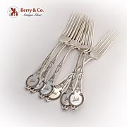 Comstock Dinner Forks 6 Vanderslice Sterling Silver
