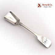 Salt Shovel Spoon Dublin C. Commins 1847 Sterling Silver