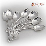 Louis XV Ice Cream Forks Nine Whiting Sterling Silver