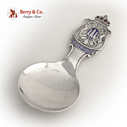 Copenhagen Tea Caddy Spoon Enamel Sterling Silver