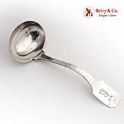 Gravy Ladle Hand Hammered Shreve Sterling Silver