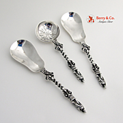 Apostle Serving Spoons Sugar Sifter London Sterling Silver
