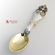 Christmas Spoon 1921 Michelsen Enamel Sterling Silver