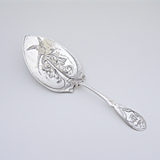 Bird Scroll Pie Server Coin Silver