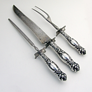 Frontenac Roast Carving Set 3 Pieces Sterling Silver