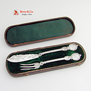 Pickle Set A. Coles American 1870 Coin Silver