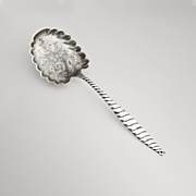 Oval Twist Berry Spoon Whiting Sterling Silver